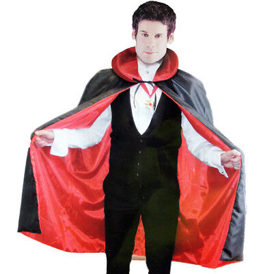 Adults Halloween Dracula Cape and Medallion Set Count Vampire Fancy Dress
