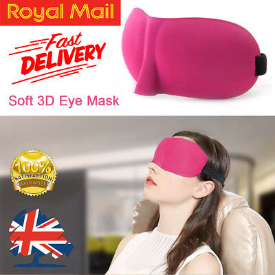 3D Eye Mask Sleeping Aids Blindfold Eyepatch Shade Relax Rest Travel Foam Cover