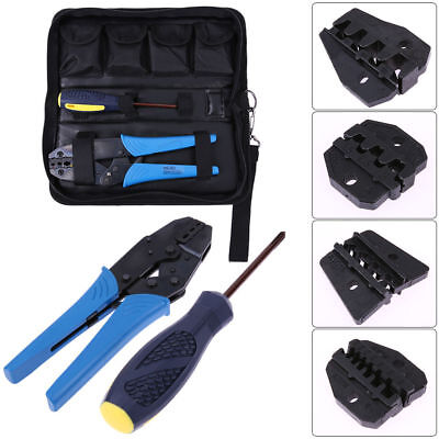 4 Spare Dies Crimper Crimp Pliers Set Insulated Tool Cable Ratchet 0.5-6mm² UK