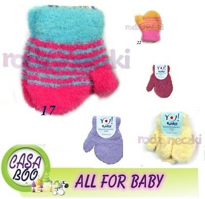 Small baby infant gloves with string soft worm Winter one size