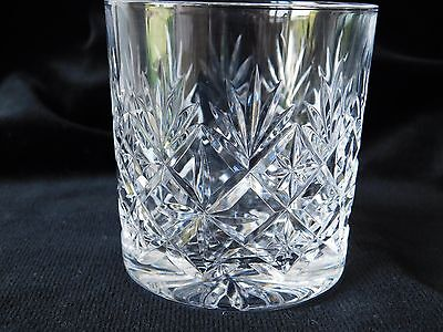 Thomas Webb Cut Crystal  Old Fashioned Whisky Glass Tumbler