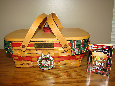 Longaberger 1996 Christmas Collection HOLIDAY CHEER Complete Set Lid Tie-on *NEW