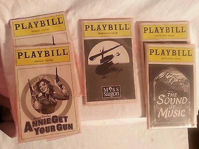 Vintage Lot of 5 Playbills Including The Sound of Music