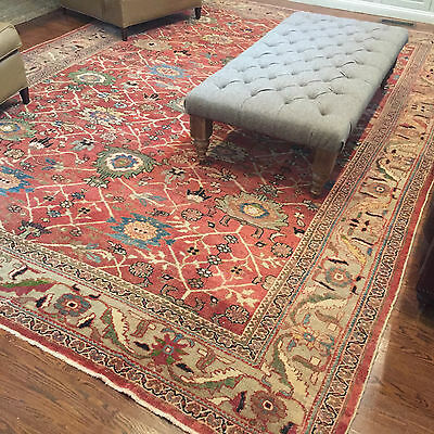 Antique Persian rug Sultanabad Mahal late 19th century 10.2 x 14  lovely carpet