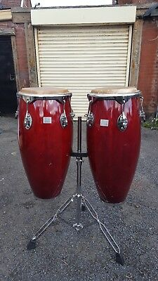 Conga Drum Pair W/ Stand by Performance Percussion (CON GA5)