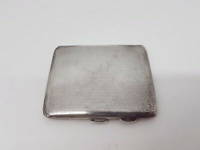 Lovely Art Deco Solid Sterling Silver Engine Turned Cigarette Case 1935 Alison