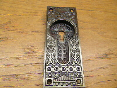"Old Eastlake ?? "" Windsor "" Pocket Door Escutcheon...door Plate Backplate Ornate"