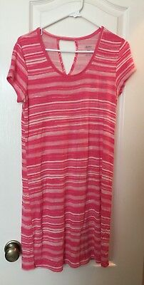 Maternity pink Sleepwear Night Gown Shirt Dress Gilligan And Omalley Size Medium