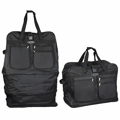 "Extra Large 36""/40"" Folding Travel Luggage Wheeled Trolley Wheels Holdall Bag"
