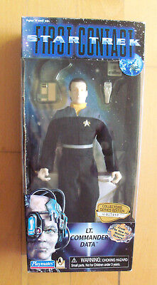 "STAR TREK - First Contact - Lt. Commander Data 9"" Figur Playmates 1996"