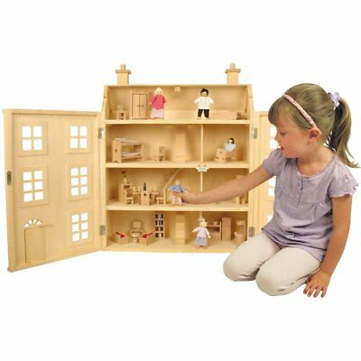 (damaged box 1)Doll House with 50 Pieces, Kids Creative Play Toys, girls gift
