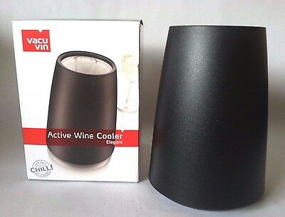 Vacu Vin Active Cooler Wine Elegant Black - NEW in Box