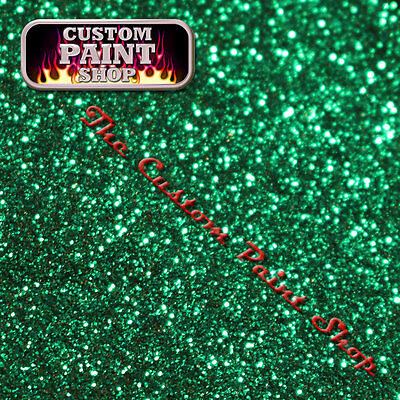 "Metal Flake, Custom Paint VICIOUS GREEN 50grams Medium (200micron 0.008"")"