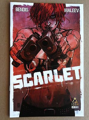 Scarlet #1 Brian Bendis Alex Maleev Marvel Comics Nm 1St Printing 2010 Hbo Tv