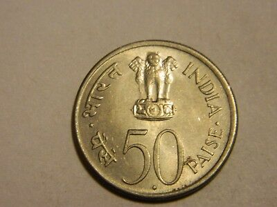 1964 India 50 Paise Nice Condition --- Lot #370