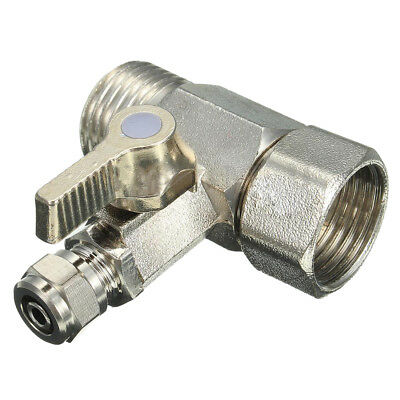 "RO Feed Water Adapter 1/2"" to 1/4"" Ball Valve Faucet Tap Feed Reverse Osmos M8Q8"