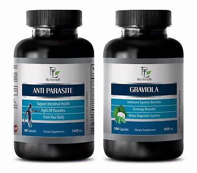 Weight loss fat burner - GRAVIOLA – ANTI PARASITE COMBO 2B - black walnut extrac