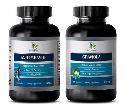 Parasite and worm cleanse for humans - GRAVIOLA – ANTI PARASITE COMBO 2B - diet