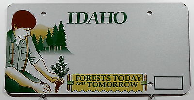 """USA Nummernschild Idaho """"Forests Today and Tomorrow"""" Schilderrohling. 9349."""
