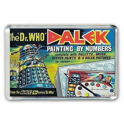 RETRO 60's -DOCTOR WHO -DALEK PAINT BY NUMBERS ADVERT JUMBO FRIDGE MAGNET