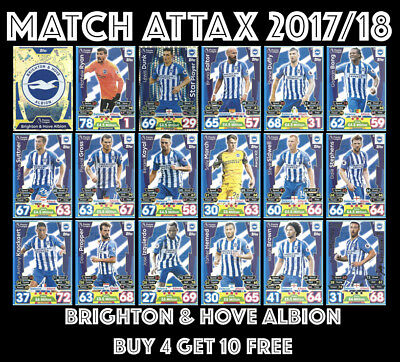 Match Attax 2017/18 Brighton And Hove Albion #37- 54 Buy 4 Get 10 Free 17/18