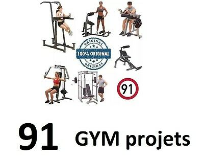 91 GYM Equipment PDF professional plans, for business or home DIY