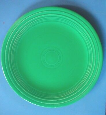 "FIESTA / Vintage Light Green 10 1/2"" Plate / Homer Laughlin"