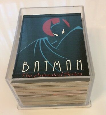 BATMAN the Animated Series, 1993 TOPPS Trading Cards, 100 Series 1 Complete Set!