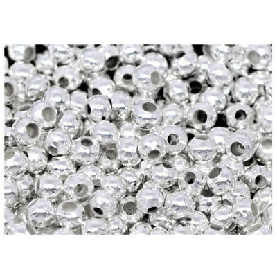 2000PCs Silver Plated Smooth Ball Spacers Beads 2.4mm U3R1
