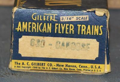 American Flyer 630 S Scale Caboose Box Only Blue/Yellow