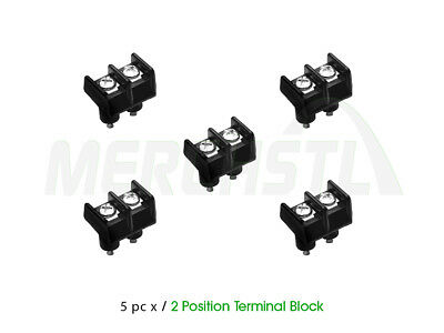 ( QTY 5 ) 2 Position Single Row Terminal Block 1697 / 4 6 8 10 7/16 250v 20a