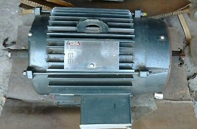 Lincoln Electric 7.5 HP Inverter Duty CTAC 3 Phase Electric Motor