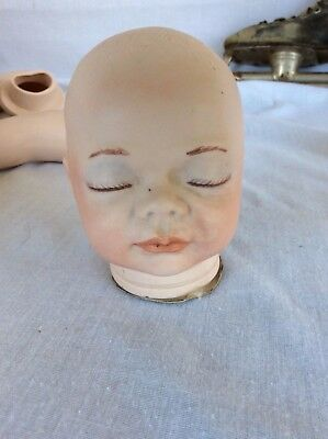 Porcelain Doll Head Initialed by artist. 1989