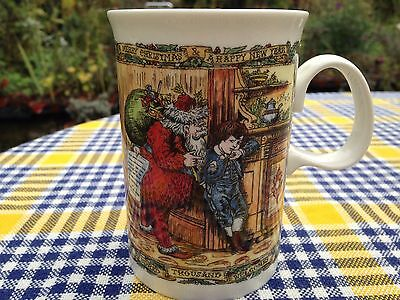 "Gorgeous Dunoon Xmas Cheer Series ""Christmas Post"" Design Tall Stoneware Mug"