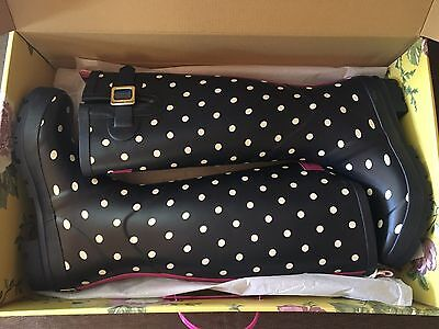 Joules Printed Rain Boots - Women's Size 7  **NEW IN BOX**