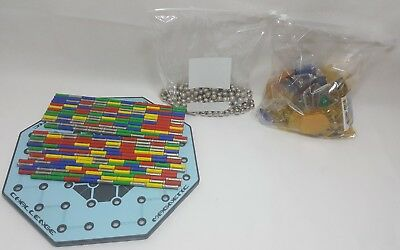 Geomag - Over 350 Genuine Items (169 Bars, 180 balls &  Shapes) Magnetic board