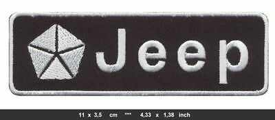 JEEP Aufnäher Aufbügler Patches Auto cars Grand Cherokee 4x4 V8 black Mark II