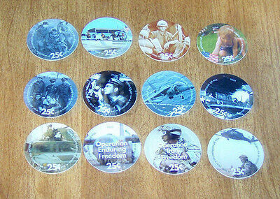 4th  Print Set 25 Cent AAFES  Pogs 2004 printing Extra Fine- A.U. Condition