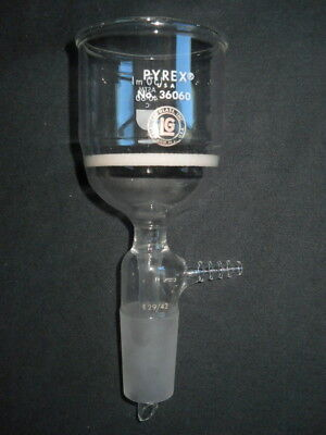 Pyrex Lab Glass 29/42 Joint Coarse Fritted 150mL Vacuum Buchner Filter Funnel