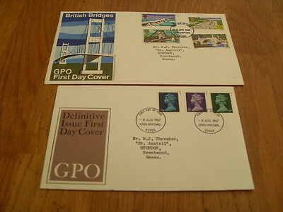 England  F-D Covers- British Bridges  1968 / Definitive Issue 1967