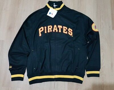 Majestic Athletic Men's Pirates Baseball Tracksuit Top / Jacket Brand New Size X