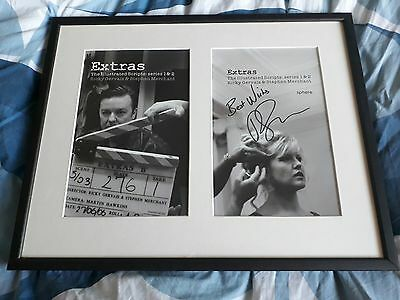 Ricky Gervais (the office) *Signed* framed Extras scripts