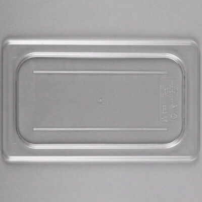 Cambro 40CWC135 Camwear 1/4 Size Food Pan Cover Clear Flat Lid - 6pcs/Case