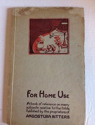 For Home Use Angostura Bitters 1935 Sixth Edition