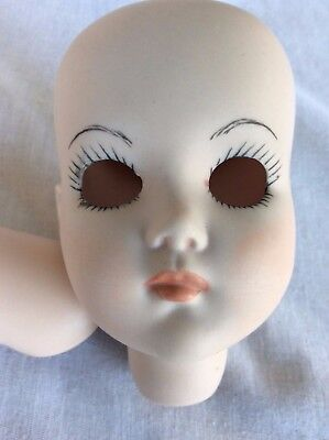 Porcelain Doll Head Initialed by artist.
