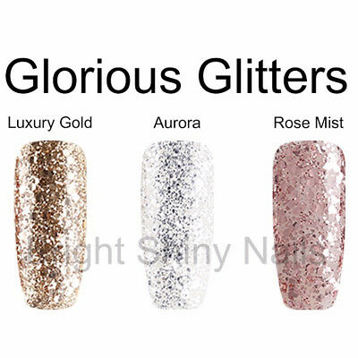 Bluesky Luxury Gold Glitter Aurora Silver Glitter UV LED GEL NAIL POLISH