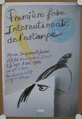 Affiche FOIRE INTERNATIONALE ESTAMPE 1985 illustr. BLOM