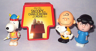 PEANUTS SNOOPY 4 x McDONALDS TOY FIGURE SET LOT COLLECTION VGC