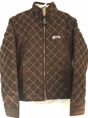 Equine Couture Girls Natasha Duet Jacket/Vest Brown Youth Size-Small