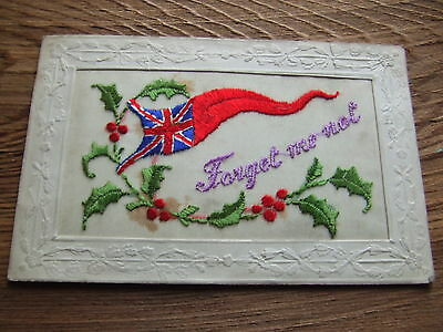 W.war. 1.   Patriotic Type.    Silk Postcard.       Nice Condition.